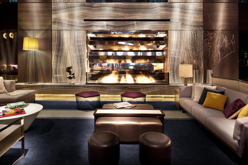 Hotel Paramount New York' Inspiring Design Project by Philippe Stark hotel paramount Hotel Paramount New York' Inspiring Design Project by Philippe Starck 5Lobby Fireplace S