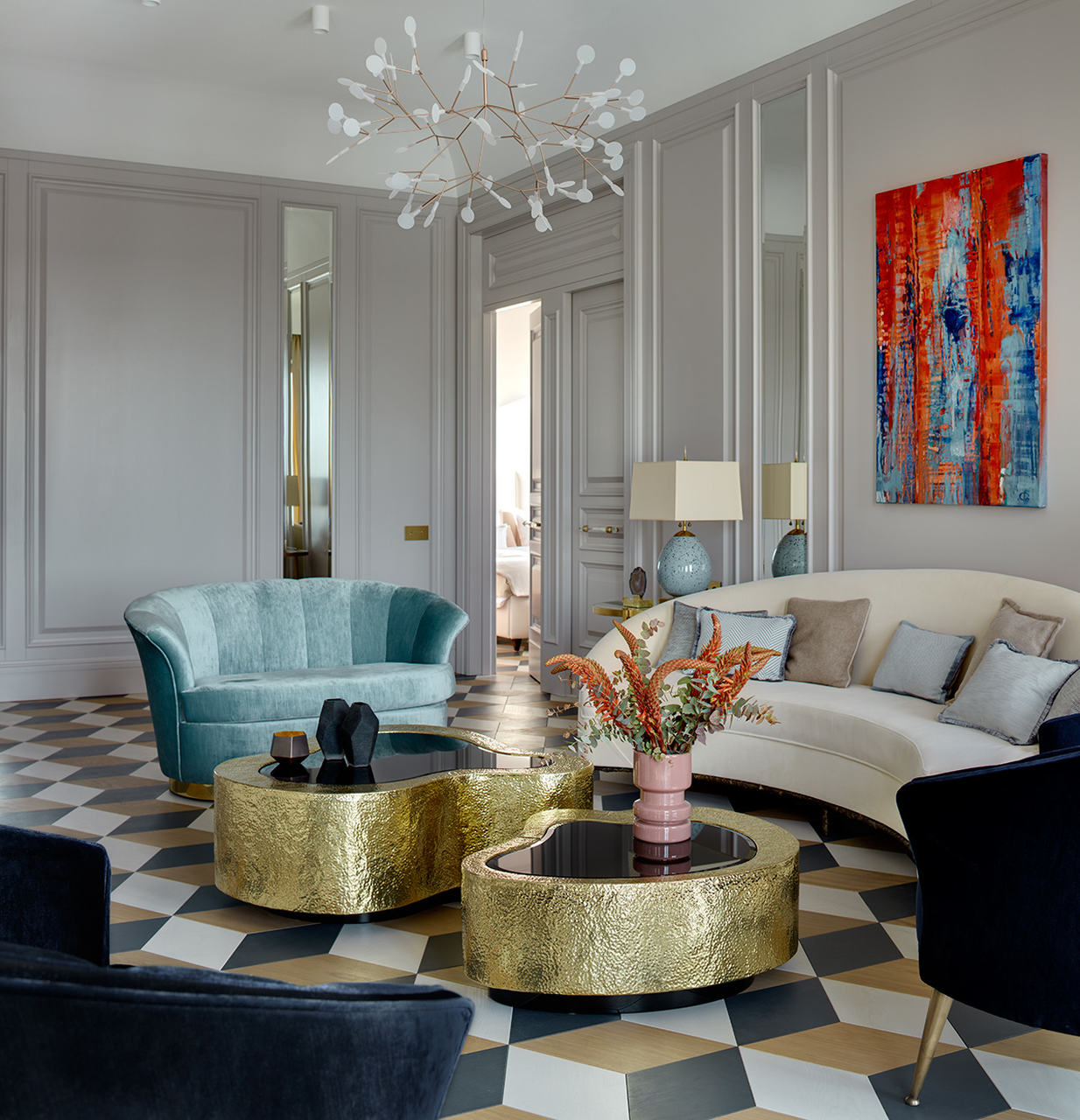 boca do lobo Boca do Lobo's Most Remarkable Interior Design Projects Ekaterina Lamashkova St Petersburg living room architecture design projects boca do lobo 2
