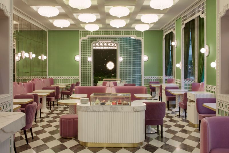 India Mahdavi's Most Flamboyant and Artsy Restaurant Design india mahdavi India Mahdavi's Most Flamboyant and Artsy Restaurant Design Mahdavis Most Flamboyant and Artsy Restaurant Design 15