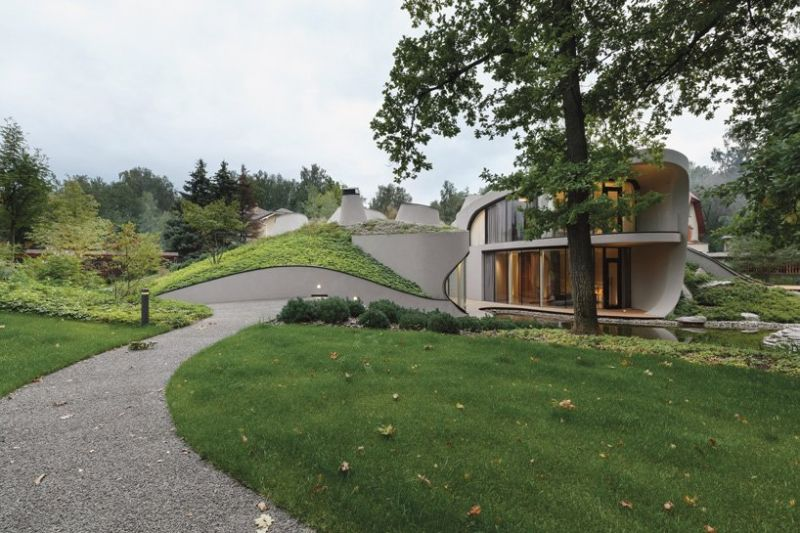 Organic Meets Futuristic Architectural Design: House in The Landscape Organic Meets Futuristic Design House in The Landscape 4