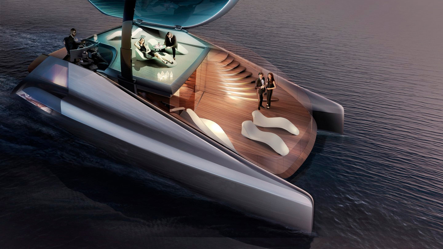 The Icona Fibonacci, a catamaran design out of Turin, Italy