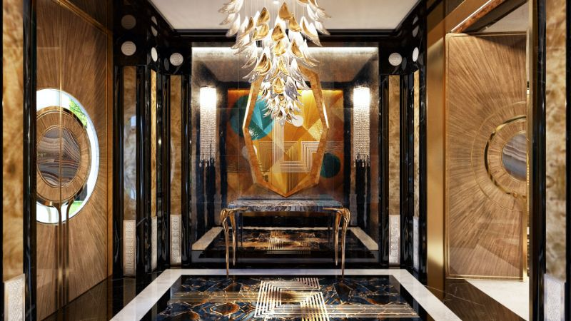Elena Krylova Designs An Opulent And Glamorous Moscow Mansion   An Over The Top Luxury Manor In Moscow by Elena Krylova 24