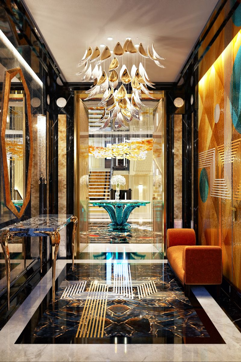 Elena Krylova Designs An Opulent And Glamorous Moscow Mansion   An Over The Top Luxury Manor In Moscow by Elena Krylova 25