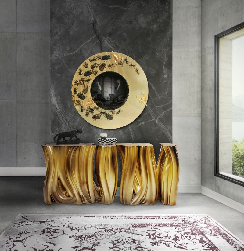 Modern Mirrors To Embellish Your Imposing Buffets and Cabinets