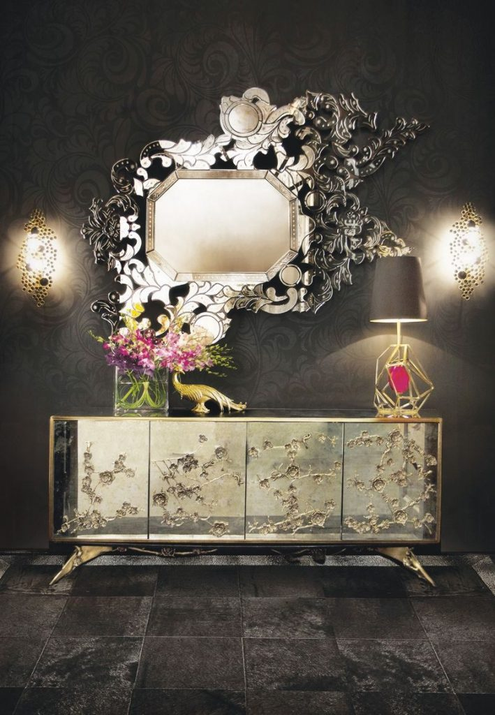 Modern Mirrors That Go Well With Your Buffets and Cabinets   Mirrors That Go Well With Your Buffets and Cabinets 5 709x1024