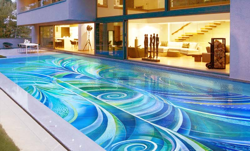 Modern Art By The Poolside: Colorful Summer Ideas To Get Refreshed   Modern Art By The Poolside Colorful Summer Ideas To Get Refreshed 4