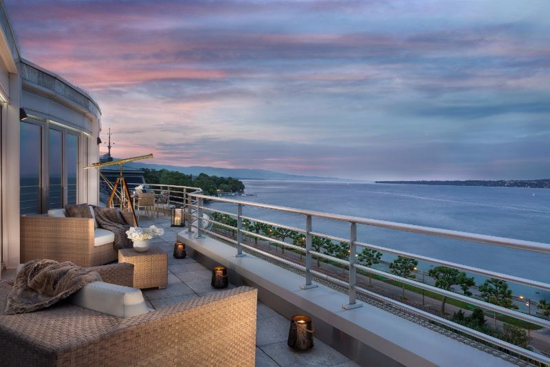 The Five Most Expensive Vacations Spot In The World   Royal Penthouse at the President Wilson Hotel Geneva 1