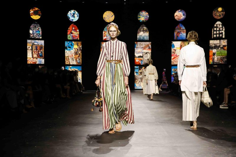 Collages Meet Stained Glass In Dior's Runway: References To Fine Art   Collages Meet Stained Glass In Diors Runway References To Fine Art 10
