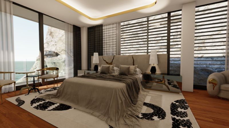 Modern Interiors' Ideas For The Most Relaxing Areas Of Your Home   A Modern Bedroom Located Inside Of A 15 Million Mansion 2