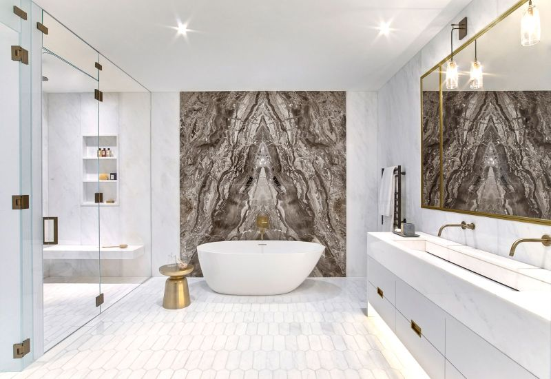 Incredible Bathroom Design Trends For 2021 Unraveling Marbles Splendid Duality in LuxuryInteriors 12