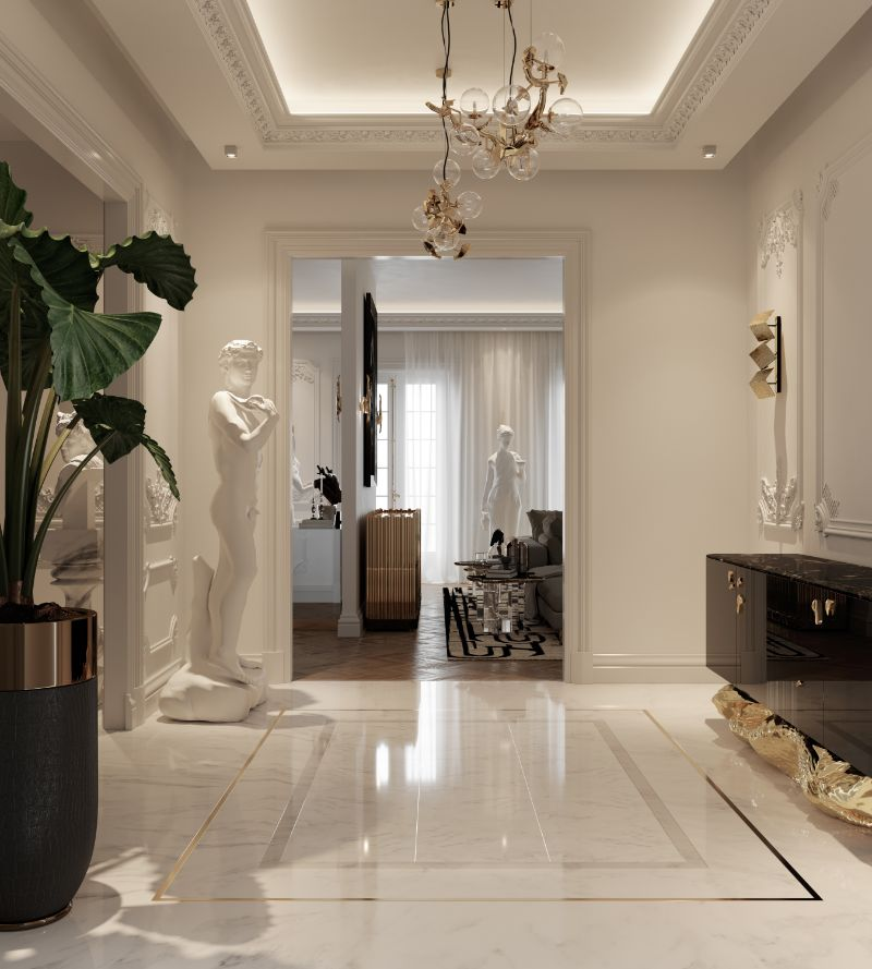 A Millionaire And Luxury Entryway That Makes A Killer First Impression A Millionaire And Luxury Entryway That Makes A Killer First Impression 3