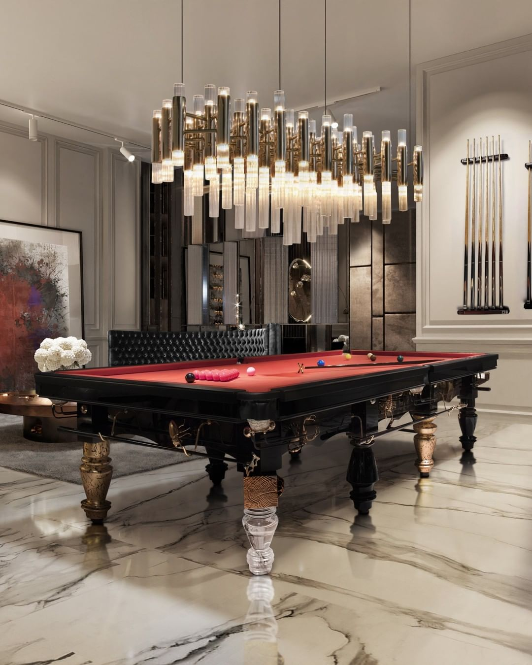 A tribute to the darkest side of nature where challenges never seize to exist. bl metarmophosis snooker table