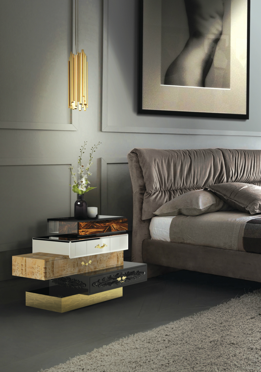 10 Exclusive Bedside Tables for your Master Bedroom Decor - Frank Nightstand by Boca do Lobo   frank 4
