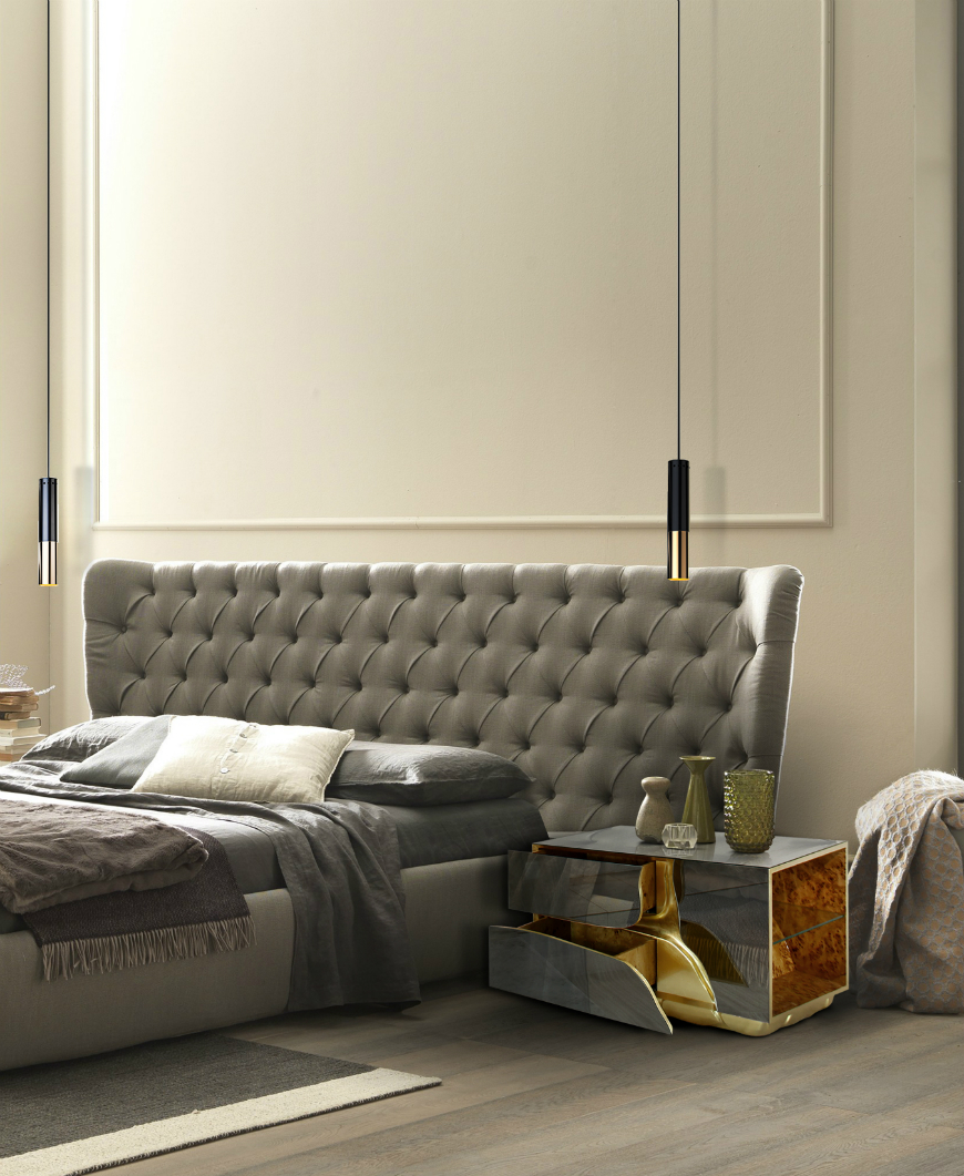 10 Exclusive Bedside Tables for your Master Bedroom Decor - Lapiaz Nightstand by Boca do Lobo   lapiaz nightstand